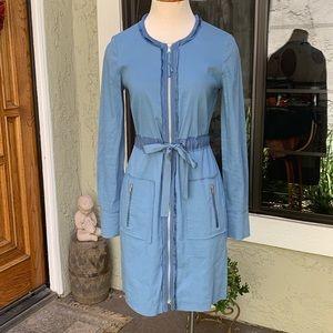 ELIE TAHARI shirt style, drawstring waist dress.